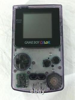 Nintendo Gameboy Color Atomic Purple Bundle Lot 7 Games Pokemon Red Gold Mario