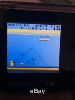 Nintendo Gameboy Color Backlit Mod Clear Purple GBC Glass Lens read Desc