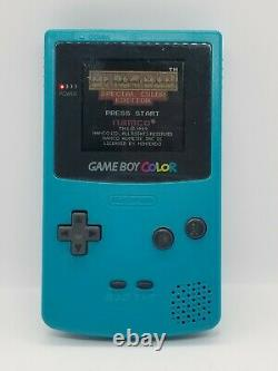 Nintendo Gameboy Color CGB-001 Teal Blue Tested and Working COMPLETE IN BOX