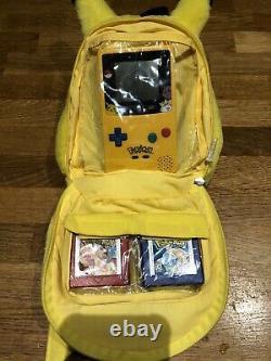 Nintendo Gameboy Color Colour Console Pokemon Bundle 6 Games Plush Case Pikachu