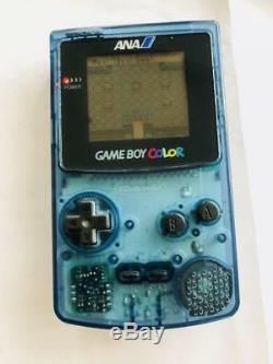 Nintendo Gameboy Color Console ANA Limited edition Very rare Clear Blue GB GBA