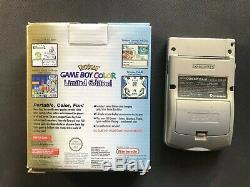 Nintendo Gameboy Color Console Pokemon Edition Gold-Silver Pikachu CGB-001 AUS