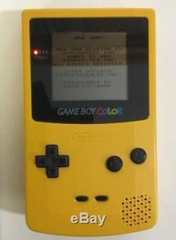Nintendo Gameboy Color Dandelion Yellow Complete In Box Tested Working Nr. Mint