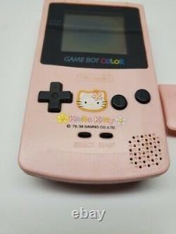 Nintendo Gameboy Color Hello Kitty Special Edition Pink Rare with Battery Cover