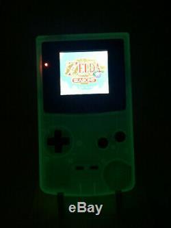 Nintendo Gameboy Color Horror Light Backlight & Custom Glass Screen Glow in Dark