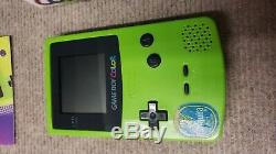 Nintendo Gameboy Color Kiwi Green Complete In Box