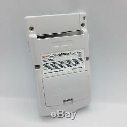 Nintendo Gameboy Color Light All White Edition Backlight & Custom Glass Screen