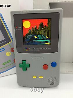 Nintendo Gameboy Color Light Super Famicom Edition IPS Backlight & Glass Screen