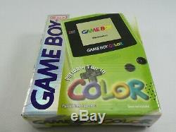 Nintendo Gameboy Color Lime Retro Vintage Genuine Mint Boxed