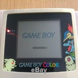 Nintendo Gameboy Color Pokemon Center Limited Console Gold Silver USED