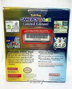 Nintendo Gameboy Color Pokemon Gold & Silver LIMITED CIB BRAND NEW With Protector
