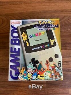 Nintendo Gameboy Color Pokemon Gold Silver Limited Edition Pikachu Pichu Boy CIB