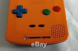 Nintendo Gameboy Color Pokemon Limited edition Orange color console, Boxed-a1205