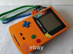 Nintendo Gameboy Color Pokemon Limited edition Orange color console, Game-d0525