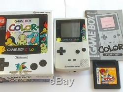 Nintendo Gameboy Color Pokemon Limited Edition Silver Console, Manual, Boxed-i1