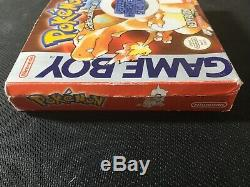 Nintendo Gameboy Color Pokemon Red Version Game Box Insert Manual PAL Tested