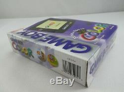 Nintendo Gameboy Color Purple Retro Vintage Genuine Mint Boxed