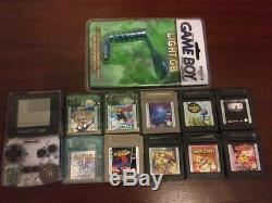 Nintendo Gameboy Color Transparent Console +10 Games Pokemon Crystal Super Mario