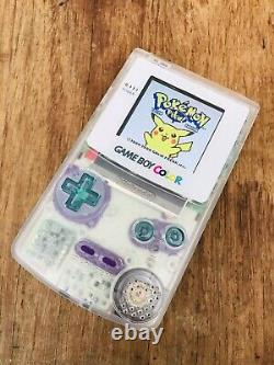 Nintendo Gameboy Colour Color Clear Teal Purple Game Console IPS V2 GBC Backlit