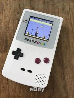 Nintendo Gameboy Colour Color White DMG Look Handheld Gaming Console BACKLIT IPS