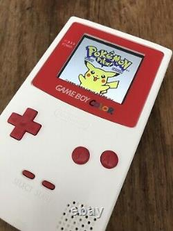 Nintendo Gameboy Colour Color White Red Handheld Gaming Console BACKLIT IPS