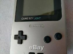 Nintendo Gameboy Light Silver color console MGB-101 and Game set/tested-b530