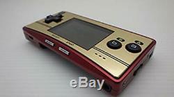 Nintendo Gameboy Micro Famicom Color Console 20th Anniversary Super Mario USED