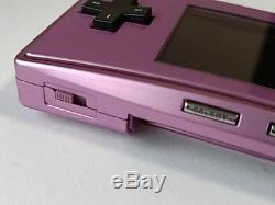 Nintendo Gameboy Micro Purple color console set/console, manual, box/work fine-G5