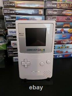 Nintendo Gameboy colour White Edition Backlit Screen (ags 101)