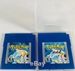 Nintendo Pokemon GameBoy Color Games Lot Red Blue Red Gold Crystal Silver