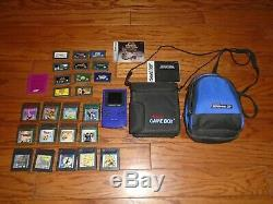 Original Nintendo Game Boy Color handheld console with 24 games GBA too & extras