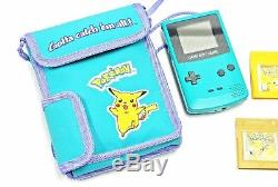 POKEMON Gameboy Color System Game LOT Yellow Red Blue Silver Gold Crystal GBC