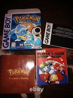 Pokemon Blue Version GameBoy Color Original Box Manual NM
