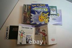 Pokemon Crystal CIB Nintendo Game Boy Color MINT NTSC-U/C (USA) Complete In Box