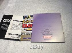 Pokemon Crystal For The Nintendo Gameboy Color Boxed & Complete PAL UK EX CON