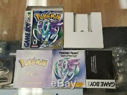 Pokemon Crystal Game Boy Color GBC Box Manual & Inserts Only NO GAME