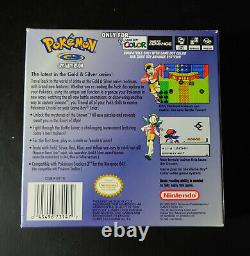 Pokemon Crystal Game Boy Color USA Good condition Box & Manual included