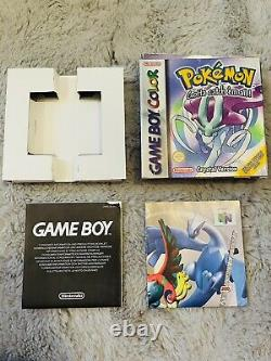 Pokemon Crystal (Nintendo Game Boy Color, 2001) Box, Insert And Leaflet Only