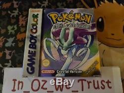 Pokemon Crystal Version Boxed (Nintendo Game Boy Color, Advance. SP, 2001)