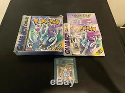 Pokemon Crystal Version COMPLETE IN BOX CIB With Guide (Game Boy Color, 2001)