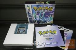 Pokemon Crystal Version (Game Boy Color, GBC 2001) COMPLETE! AUTHENTIC
