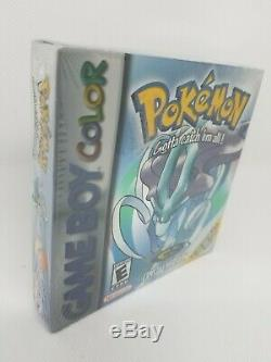 Pokemon Crystal Version Gameboy FACTORY SEALED Rare Color Never Game boy Mint