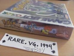 Pokemon Crystal Version (Nintendo Game Boy Color) Brand New Factory Sealed