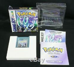 Pokemon Crystal Version Nintendo Game Boy Color GBC CIB Complete withManual, Box+