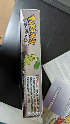 Pokemon Crystal boxed, complete, NEW BATTERY! (Nintendo Game Boy Color, 2001)