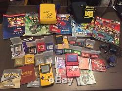 Pokemon GAMEBOY LOT, GBA SP & Color Systems, 16 Games, New Save Batteries, Guide