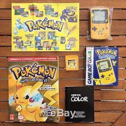 Pokemon Game Boy Color Console & Yellow & Strategy Guide Bundle Nintendo