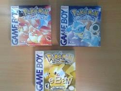 Pokémon Game Collection complete in box Gen 1 3 Game Boy, Color or Advance