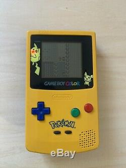 Pokemon Gameboy Colour Pikachu With Blue And Red Game