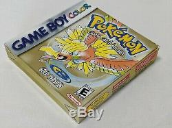 Pokemon Gold Complete in Box MINTY! Nintendo Game Boy Color GBA AUTHENTIC